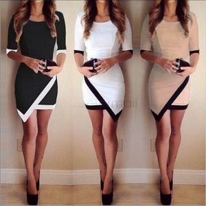 Tan & Black Mini Dress Size Small